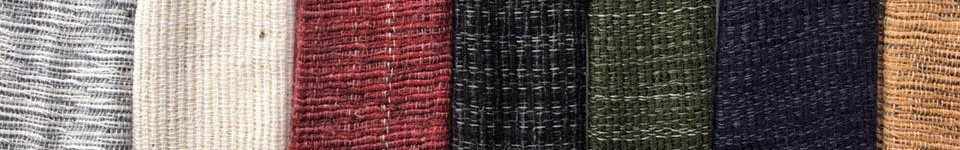 soft chunky woollen cotton fabric - all colors