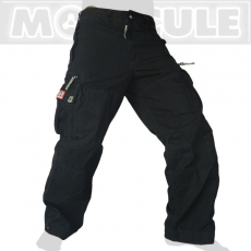 Molecule long Travel Army Cargo Pants / Trousers Venture - Black
