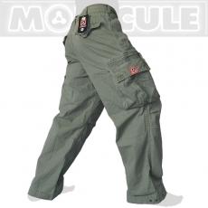 Molecule long Travel Army Cargo Pants / Trousers Venture - Safari-Green
