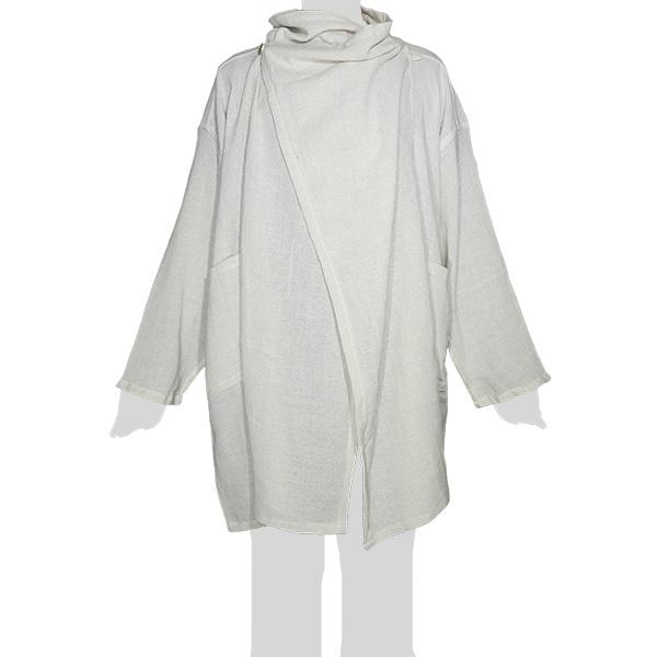 Faithai - Thai Cotton Poncho - Poncho-Jacket Longsleeves - cream-white