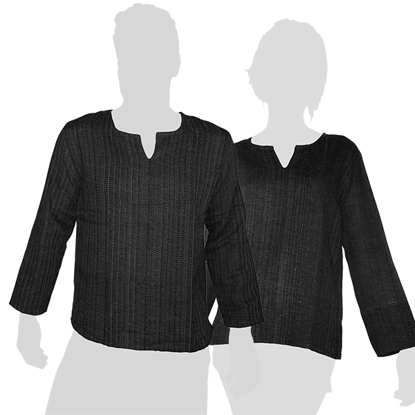 Anthracite colored soft and comfortable long-sleeved shirt made of 100 % chunky cotton. This is no factory product, in fact these shirts are handmade!