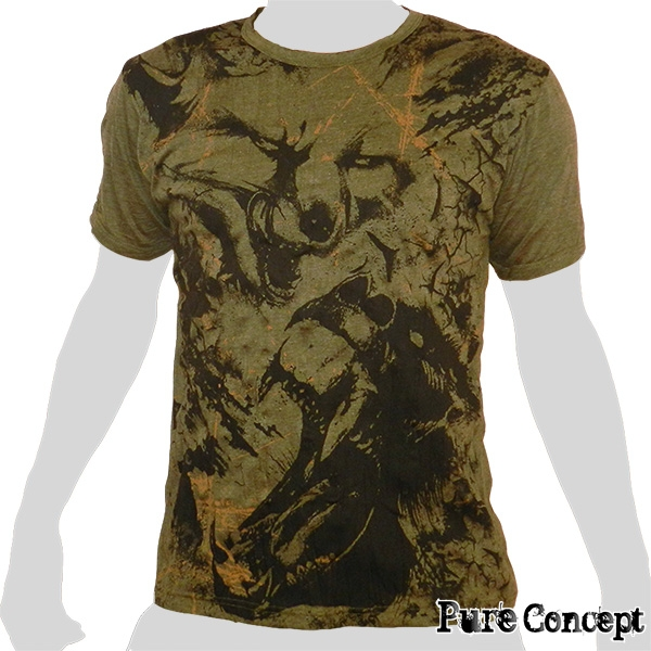 Pure Concept T-Shirt - Wild Fighter (olive green)