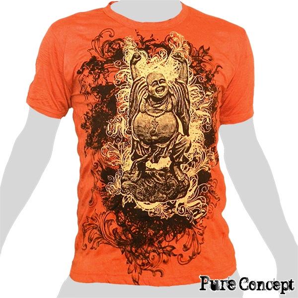 Pure Concept T-Shirt - Laughing Buddha (orange)
