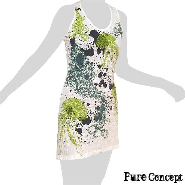 Pure Concept Tank-Dress - Jellyfish (white)