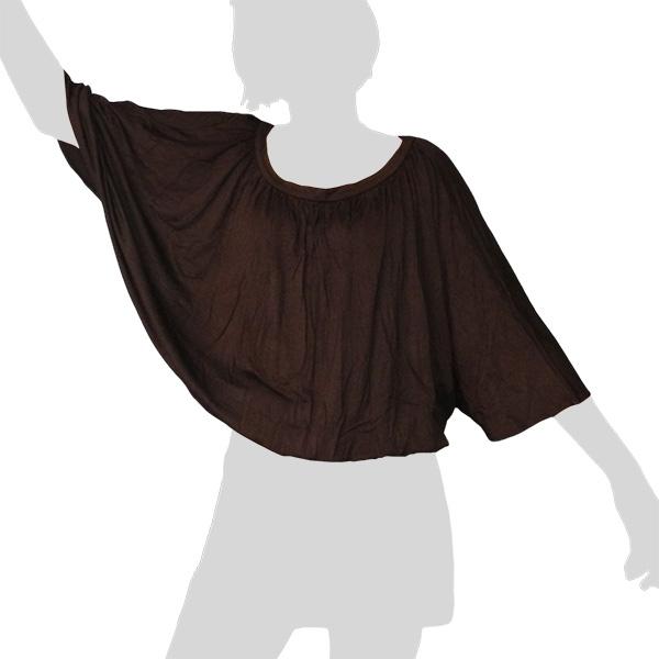 Sabaai Fabric - Wing-Sleeve Top - dark brown