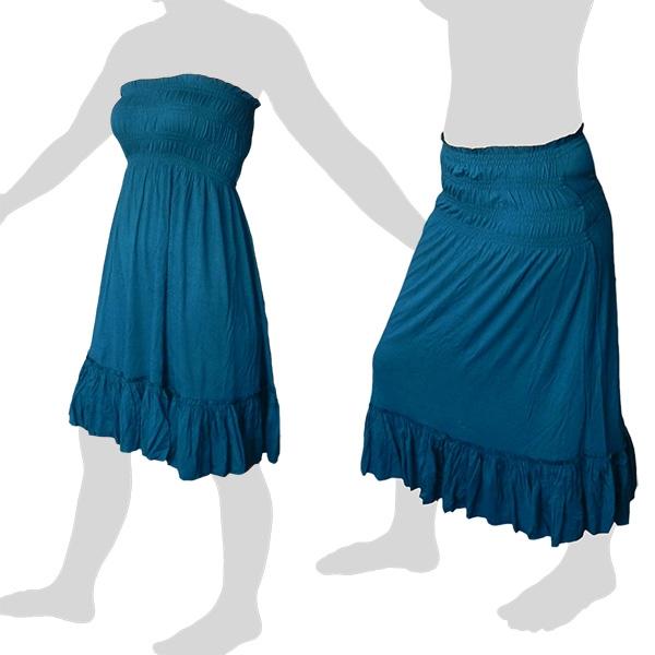 Sabaai Fabric - Skirt & Dress - Two in One - dark turqoise
