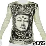 16,29 € Buddha Amitabha (Japanese: Amida) - famous Buddha statues made of bronze in 1252 - impalpable print on 100% cotton longsleeve shirt
