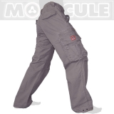 45.- € Molecule 50005 model in casual grey. 4 of the 8 pockets have iron-button flaps and 2 more have metal zips. You can store and carry lots of stuff...