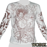 Work Longsleeve-Shirt - Asian Devil brow (white shirt) M, L, XL