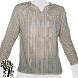 Big Tree - Thin Cotton Longsleeve Shirt - thin lines - light beige
