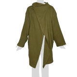 Faithai - Thai Cotton Poncho - Poncho-Jacket Longsleeves - olive green