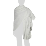 Faithai - Thai Cotton Poncho - Wrap Poncho Blanket - cream-white