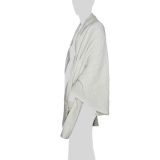 Faithai - Thai Cotton Poncho - Wrap Poncho Blanket - cream-white