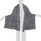 Faithai - Thai Cotton Poncho - Wrap Poncho Blanket - violet-grey