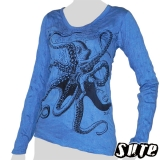 15,29 € Cool octopus - one of the most fascinating animals in the world on a blue longsleeve shirt.