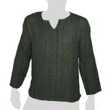 Failanna - Long Sleeve Cotton Shirt - Soft Chunky Wool