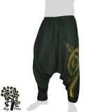 Big Tree - Thai Cotton Pants Baggy / Aladdin - dark green