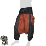 Big Tree - Thai Cotton Pants Baggy / Aladdin 2 Colors - anthracite, red-brown