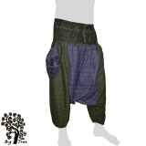 Big Tree - Thai Cotton Pants Baggy / Aladdin 2 Colors - green, blue