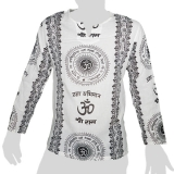 Big Tree - Thin Cotton Longsleeve Shirt - Om & Sanskrit 2 colors - white