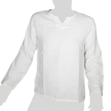 Big Tree - Soft Cotton Longsleeve Shirt - plain cream-white