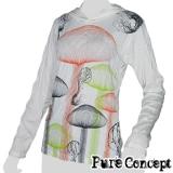 Pure Concept Lady Hoody Longsleeve-Shirt - Magic Mushrooms (white)