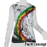 Pure Concept Lady Hoody Longsleeve-Shirt - Rainbow Fantasy (white)