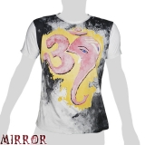 Mirror T-Shirt - Om - Ganesha (light grey) M / L