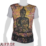 Mirror T-Shirt - Aquarelle Buddha (light grey) M / L