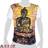 Mirror T-Shirt - Aquarelle Buddha (white) M / L