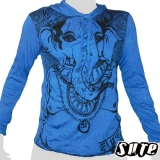 17,29 € Nicely looking Ganesha, the popular Hindu God known for his help in business and remover of obstacles - Impalable print on a blue shirt 100% cotton.