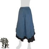 Big Tree - Ladies Thai Cotton Double Layer Floating Pants - blue