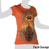 Pure Concept Lady Shirt - Buddhahand & Lotusflower (orange)