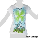 Pure Concept Lady Shirt - Good Luck Cloverleaf (white)