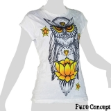 Pure Concept Lady Shirt - Wise Owl (white)
