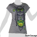 Pure Concept Lady Shirt - Wise Owl (grey)