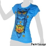 Pure Concept Lady Shirt - Wise Owl (blue)