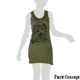 Pure Concept Tank-Dress - Yin & Yang (olive green)