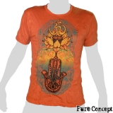Pure Concept T-Shirt - Buddhahand & Lotusflower (orange)