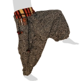 Hmong Aladdin Pants - Hilltribe Pants Naga - Fossil Snails
