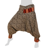 Bat Cut Hmong Aladdin Pants - Hilltribe Pants Intorn Naga - Candy