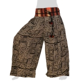 Rayon Hmong Summerpants - Long Pants Naga - Rectangle Snails