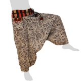 Hmong Aladdin Pants - Hilltribe Pants Naga - Starry Flowers
