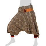 Bat Cut Hmong Aladdin Pants - Hilltribe Pants Intorn Naga - Triangle Lines