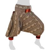 Bat Cut Hmong Aladdin Pants - Hilltribe Pants Intorn Naga - Triangle Lines