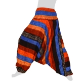 Hilltribe Aladdin Dance Hosenrock / Dress - Fat Stripes - brown / blue