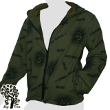 Big Tree - Jacket  - Om & Sanskrit - dark green