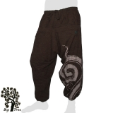 Big Tree - Thai Cotton Pants Half-Baggy 2 front pockets - dark brown