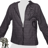 Big Tree - Thin Cotton Jacket  - dark grey