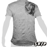 15.99 € rinkle-fabric shirt size L 100% cotton - Beautiful Tiger Head - the tiger is a powerful being in thai mythology and thai buddhism